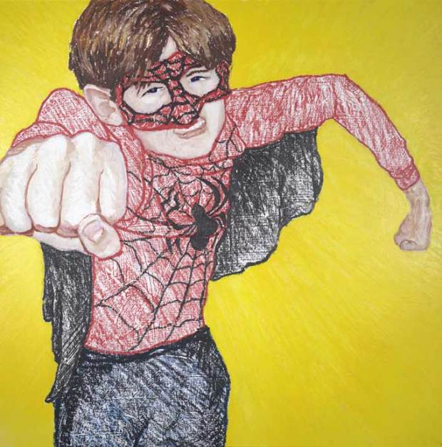 Zander as Spiderman: the original Superhero Portrait!
