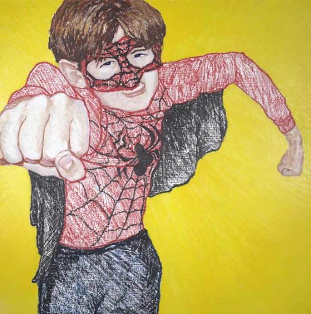 Zander as Spiderman: the original Superhero Portrait!