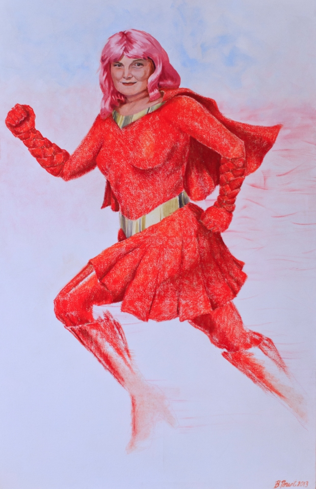 Meet Ruby Runner from the Breast Cancer Superhero Portrait Project (Photo Credit: Doug Webb)